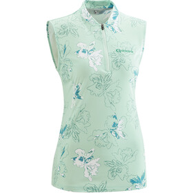 Gonso Dordona Fietsshirt Halve Rits Dames, light green allover